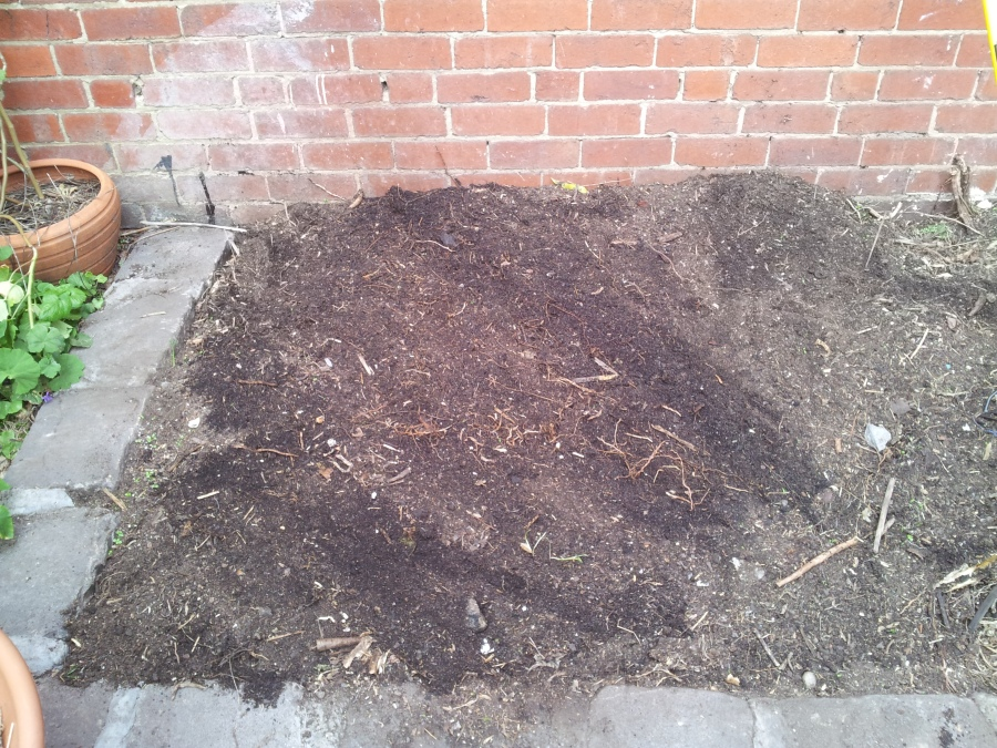 After spreading manure. Do this at an appropriate time if you can't finish this all in one day, it will stink up the place.